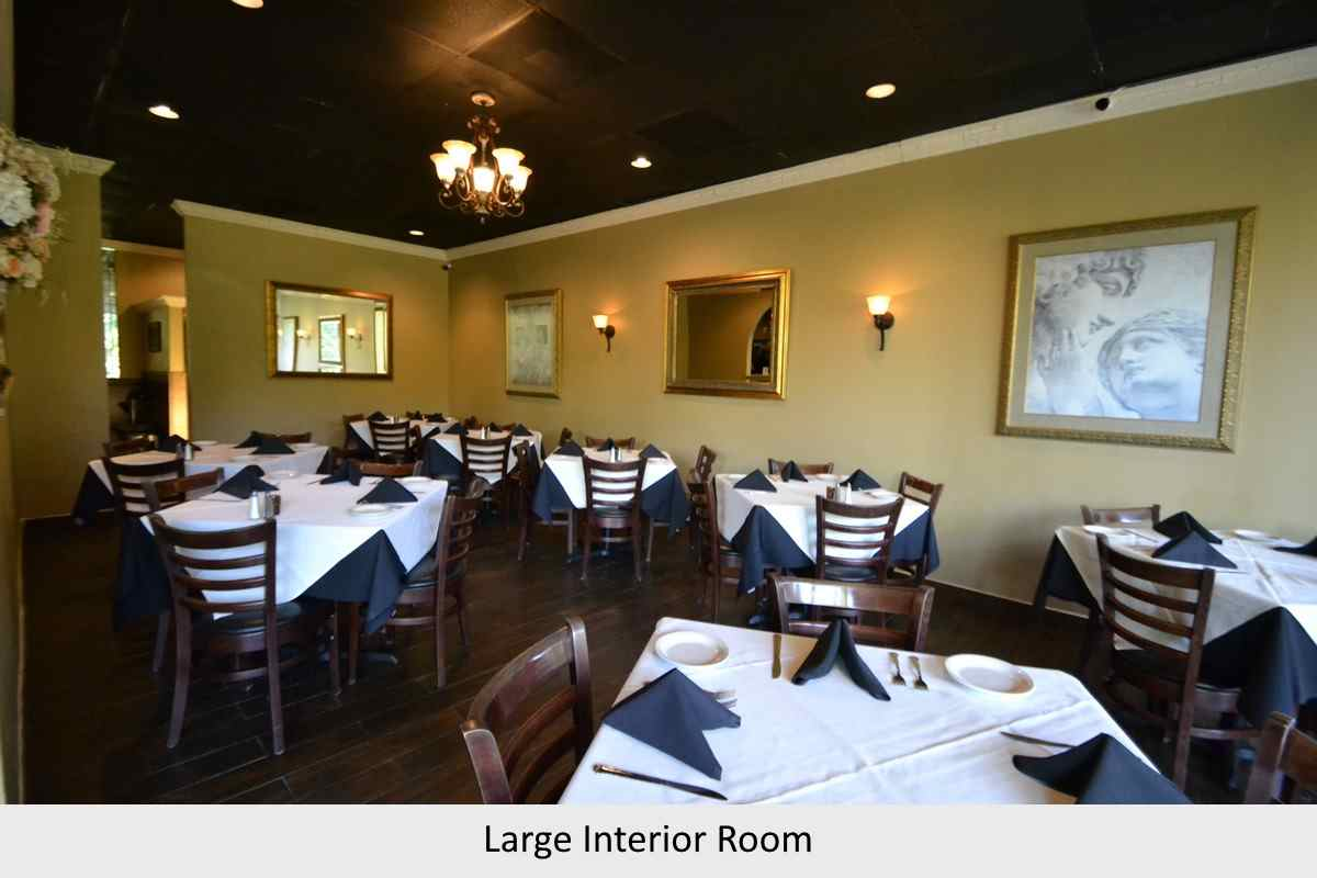 Large interior room available for private dining at Bruno's Ristorante - Irving, TX