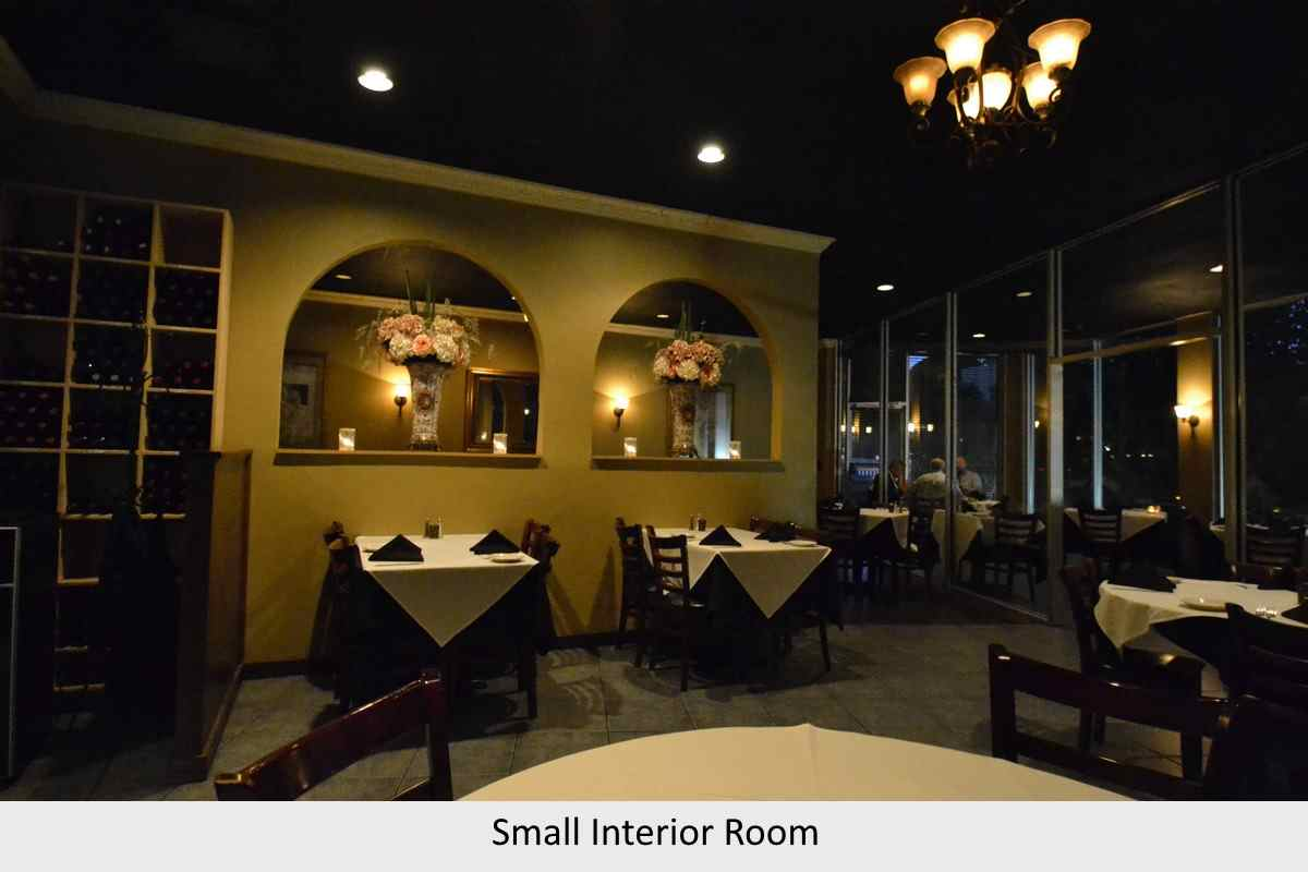 small interior room for private dining